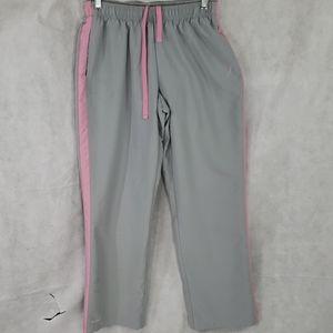 4/20 REEBOK breast cancer awareness track pants…